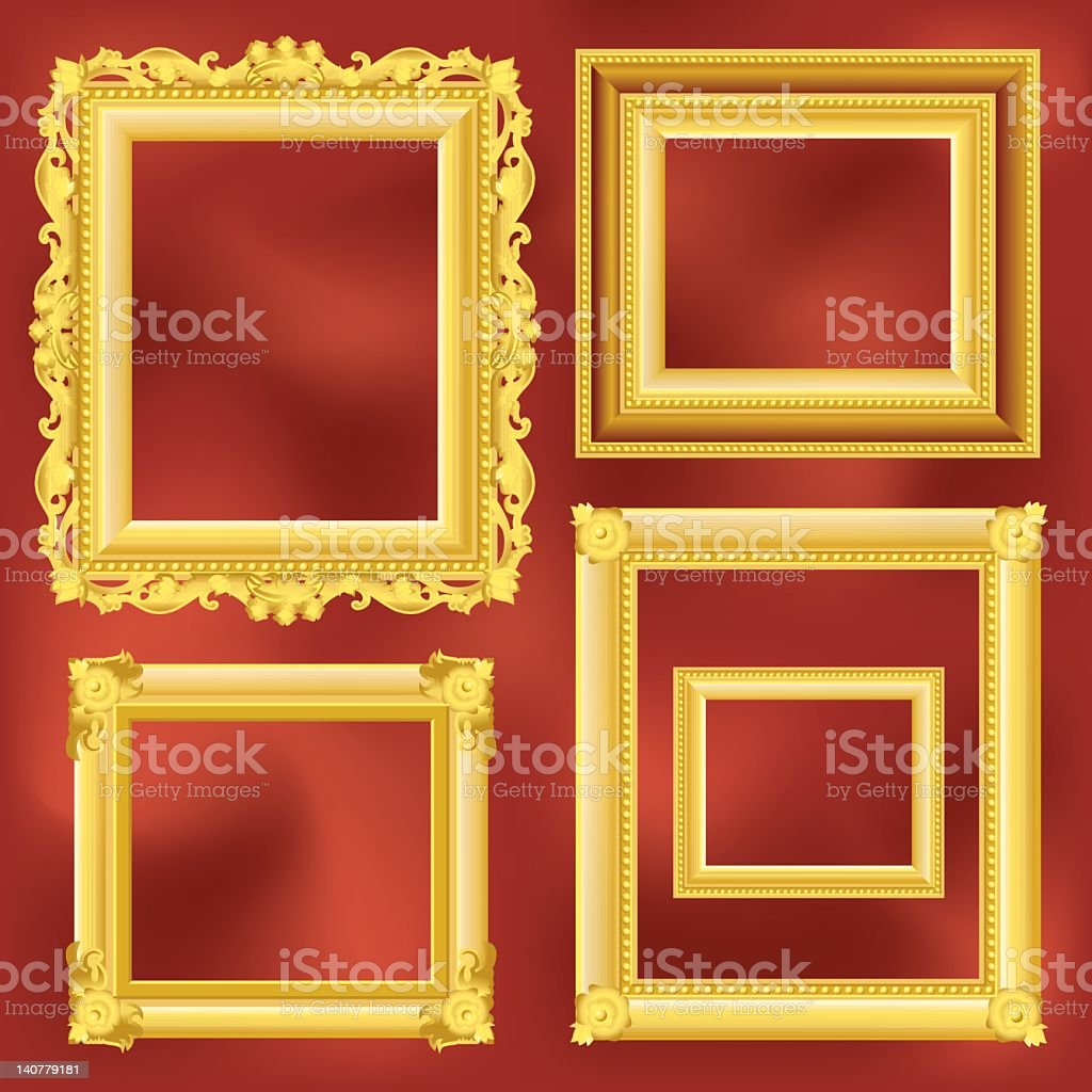 Old Frame museum royalty-free stock photo