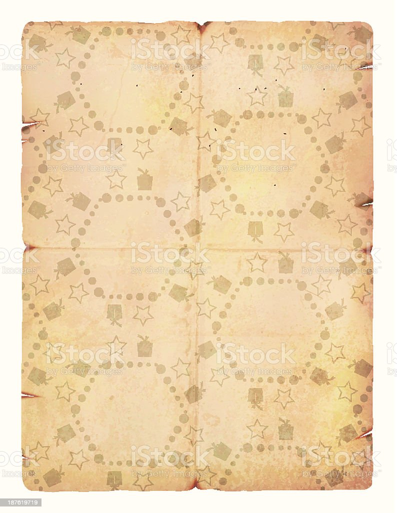 Old Grunge Vector Gift Paper royalty-free stock vector art