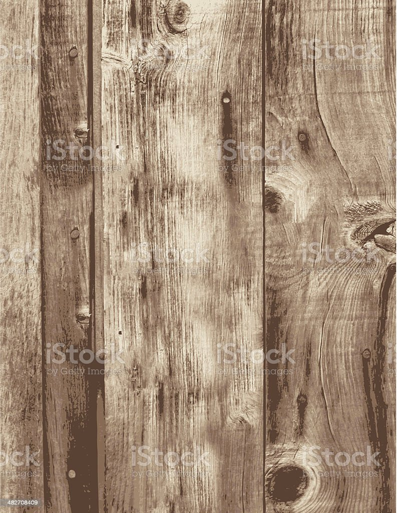 Old Grunge Wood Boards Empty Vertical Planks vector art illustration