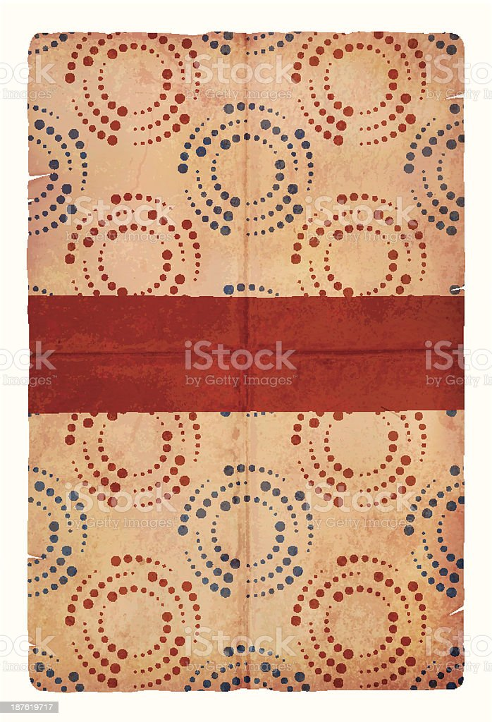 Old grungy wrapping paper royalty-free stock vector art
