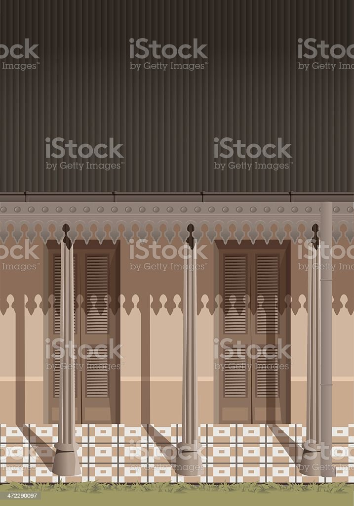 Old House patio royalty-free stock vector art