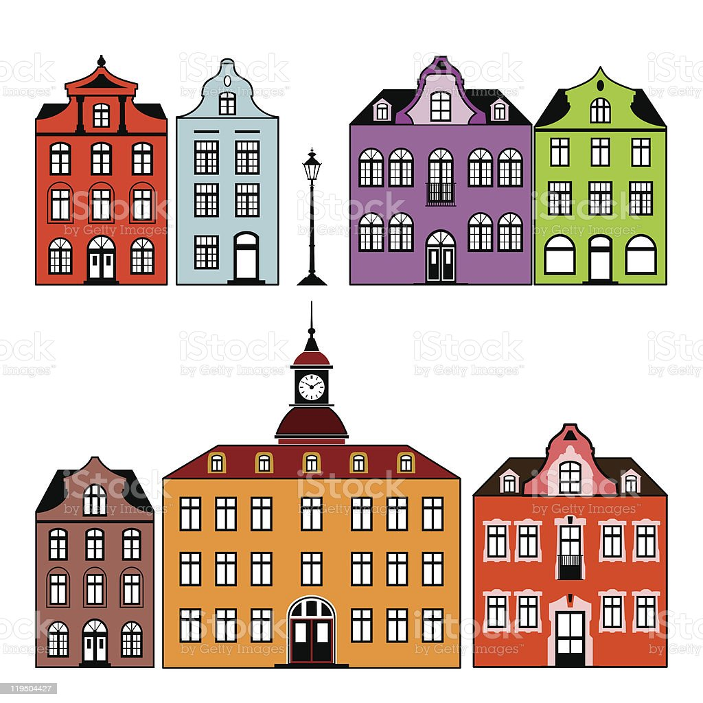 Old houses royalty-free stock vector art