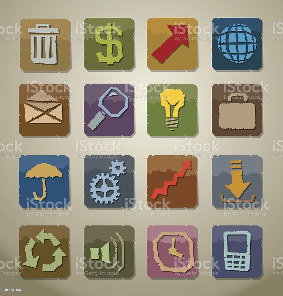 Old icon set vector royalty-free stock vector art