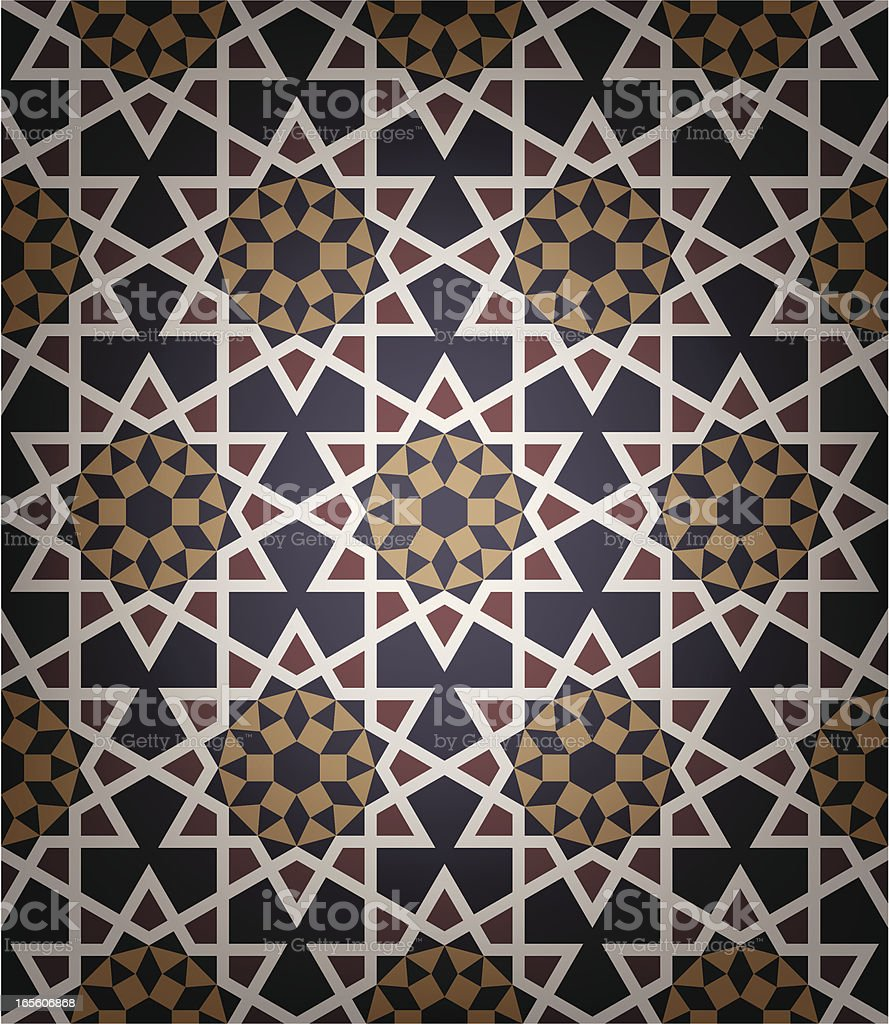 Old Islamic tile vector art illustration