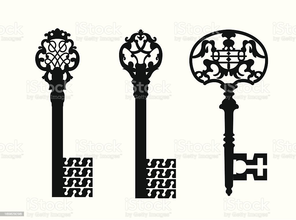 Old keys royalty-free stock vector art