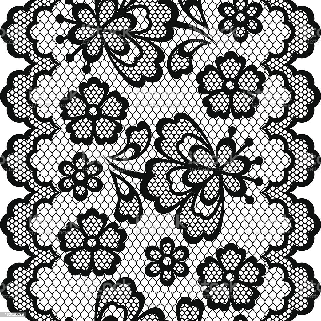Old lace border, abstract ornament. Vector texture. royalty-free stock vector art