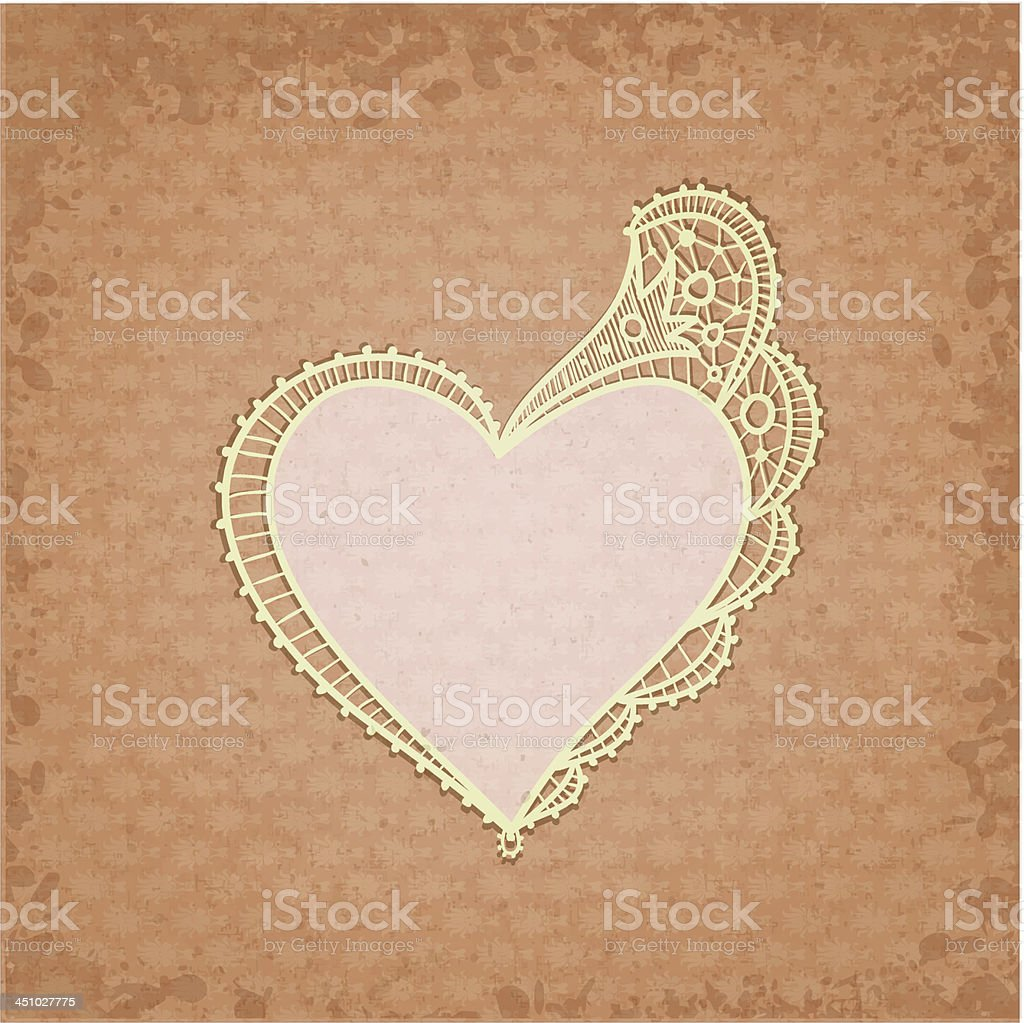 old lace frame royalty-free stock vector art