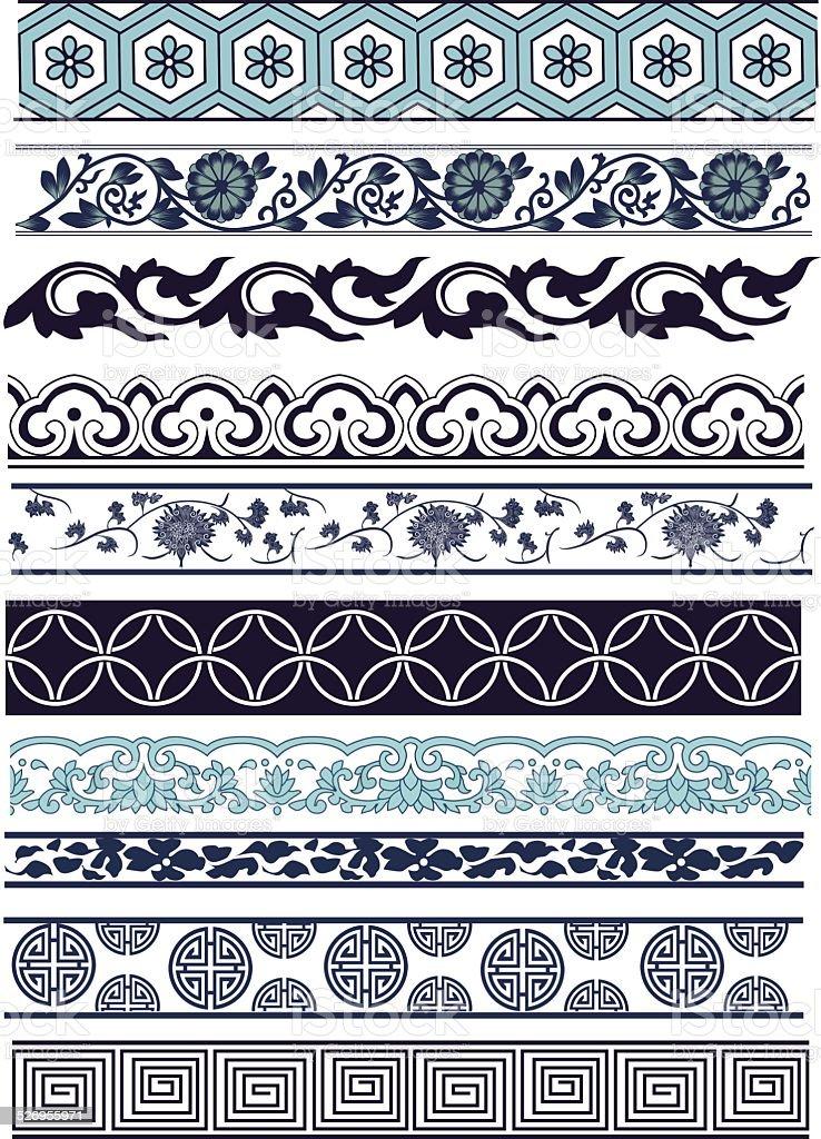 Old lace pattern vector art illustration