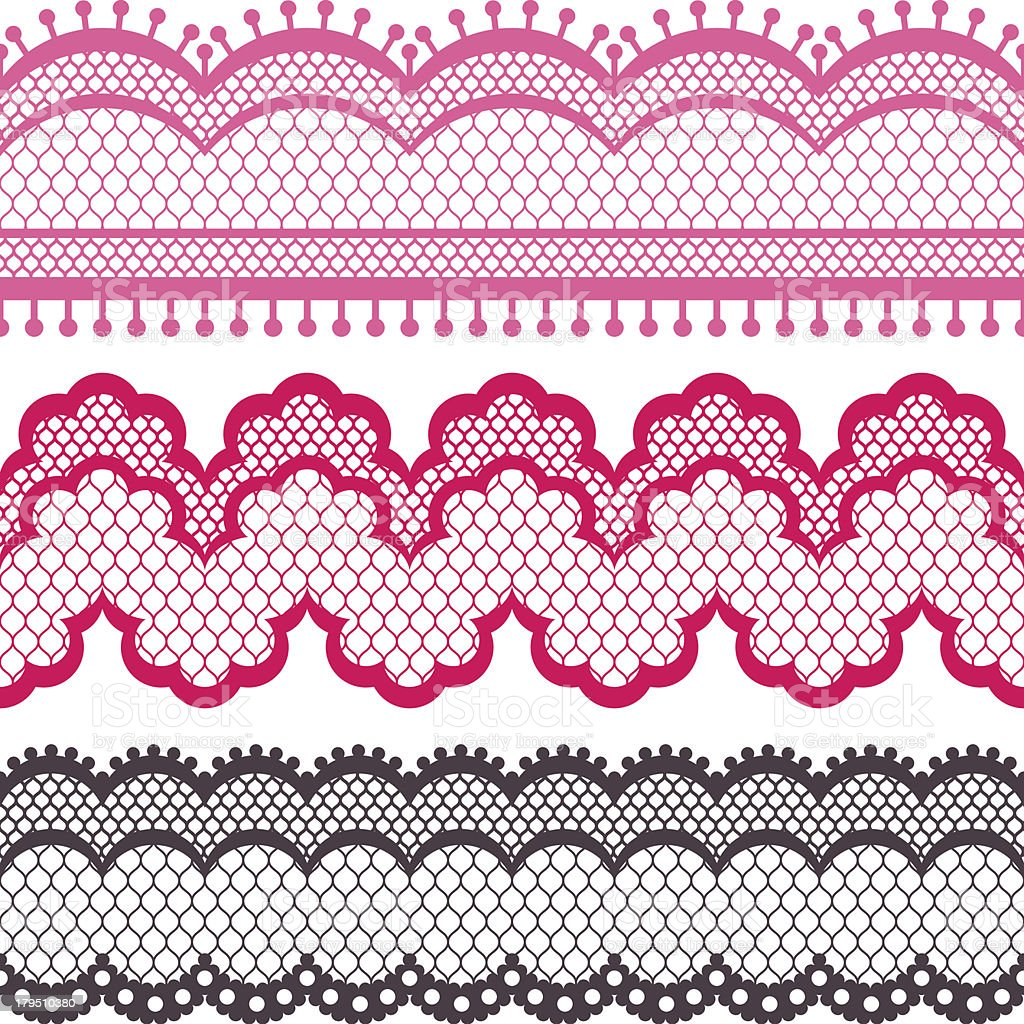 Old lace ribbons, abstract ornament. Vector texture. royalty-free stock vector art