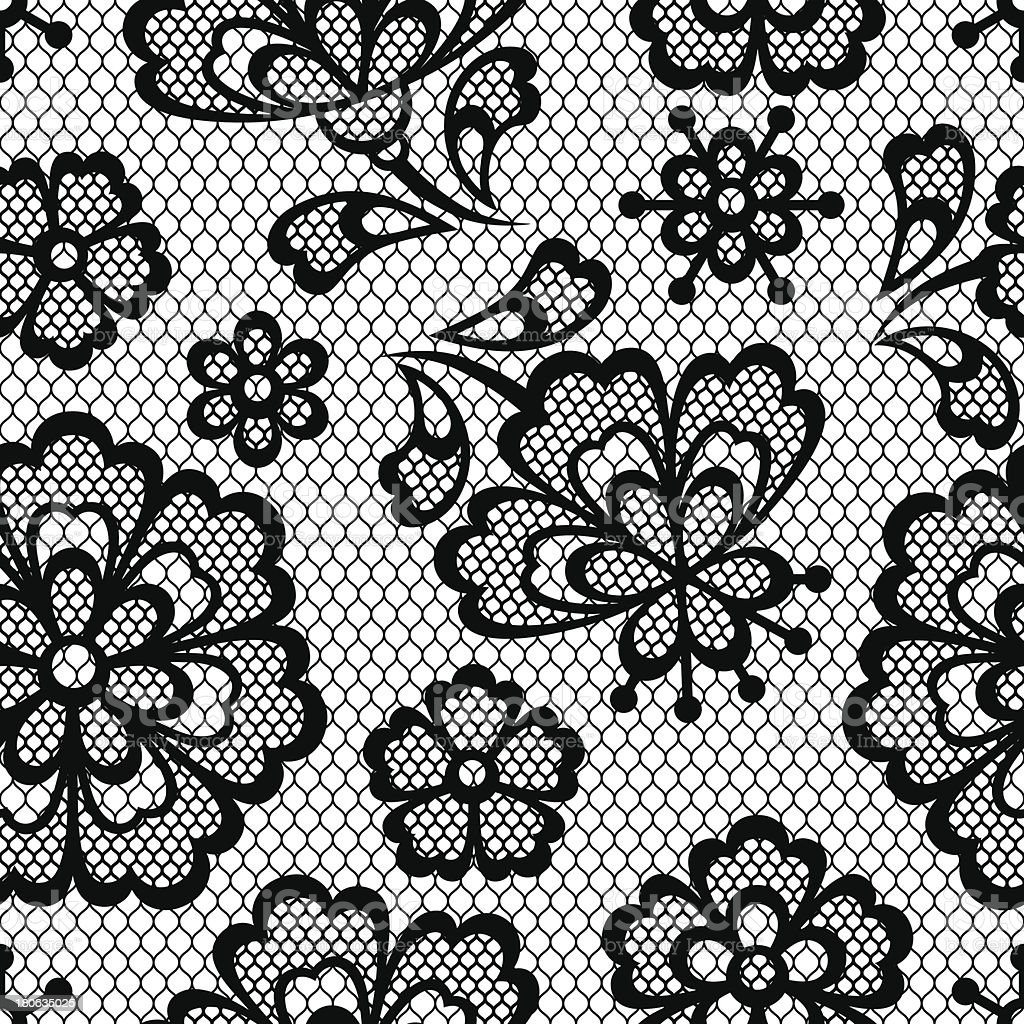 Old lace seamless pattern, ornamental flowers. Vector texture. royalty-free stock vector art