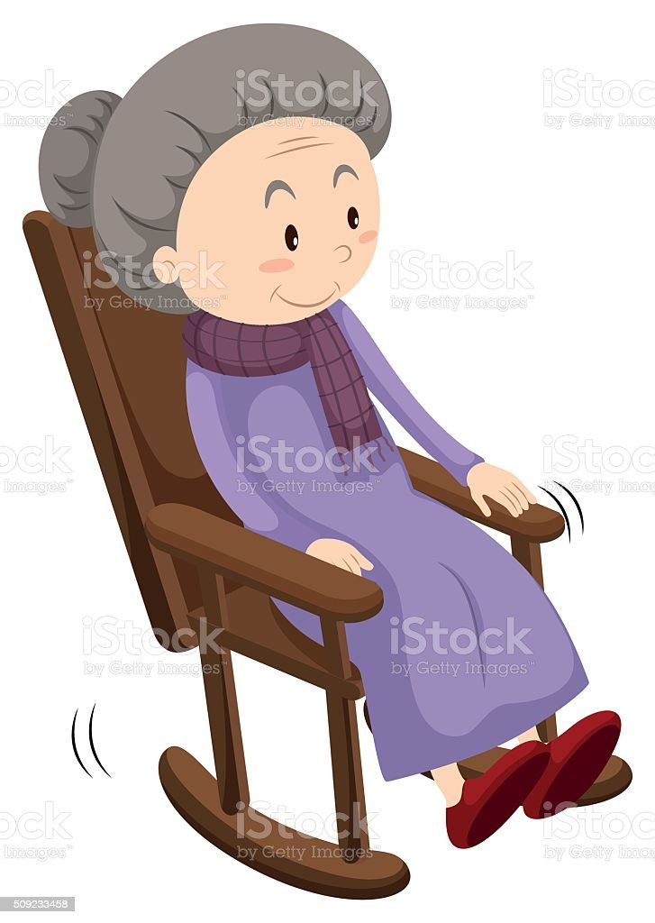 Rocking Chair Clipart grandma in a rocking chair clip art, vector images & illustrations