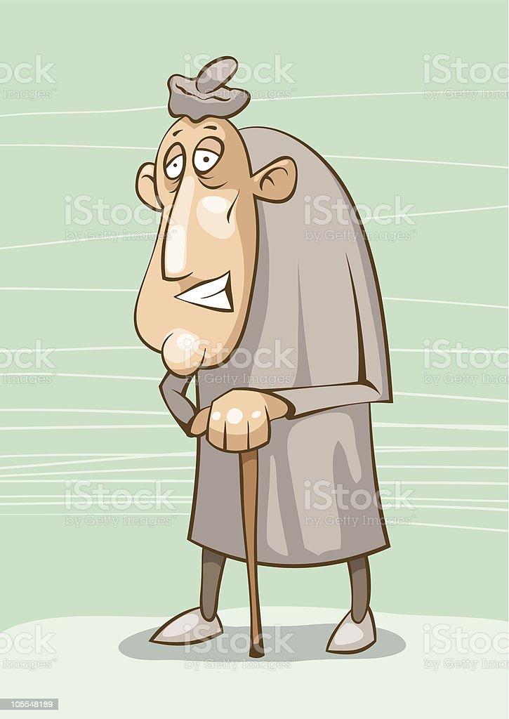 old man vector art illustration