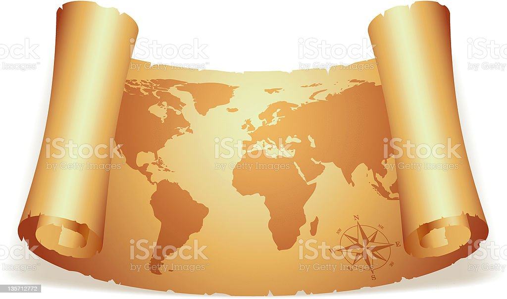 Old map. royalty-free stock vector art