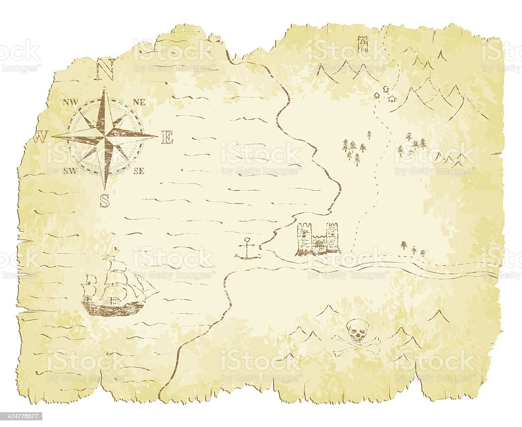 Old Map royalty-free stock vector art