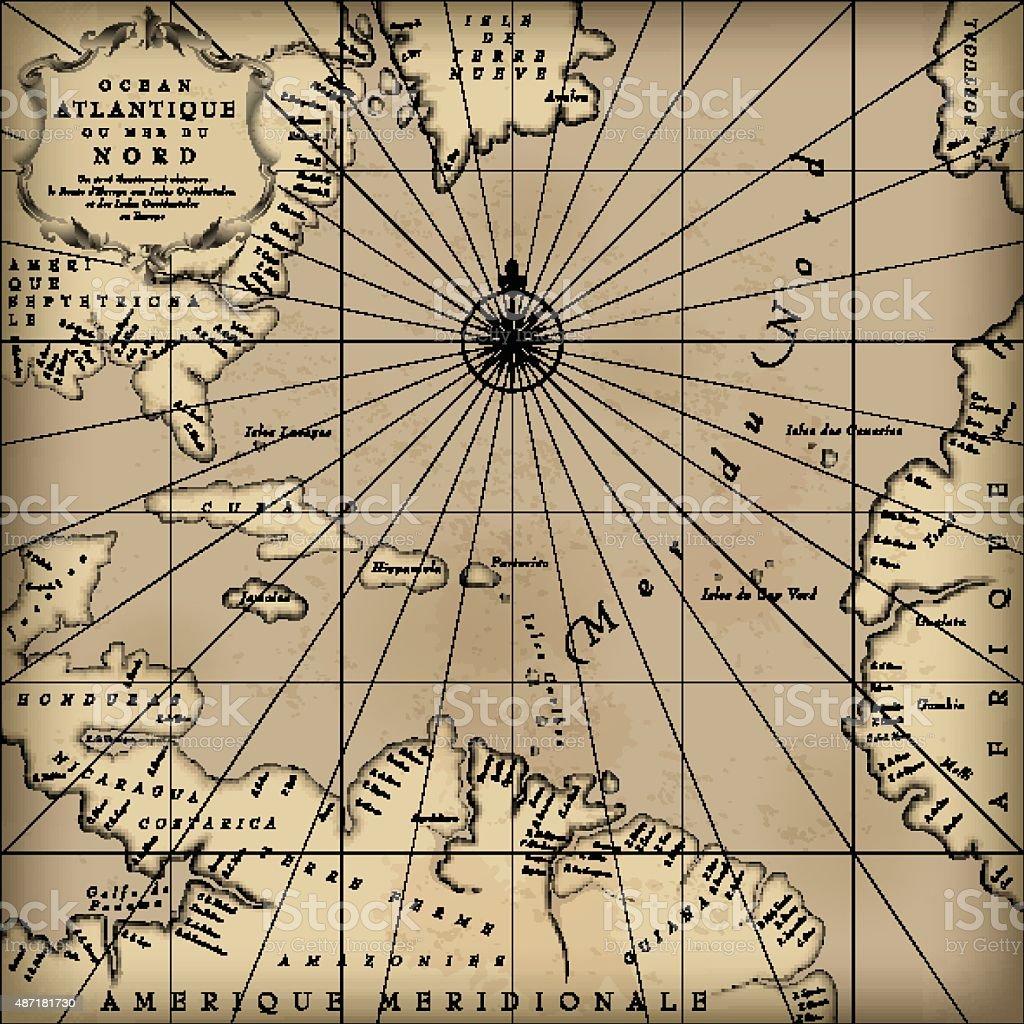 Old map vector art illustration