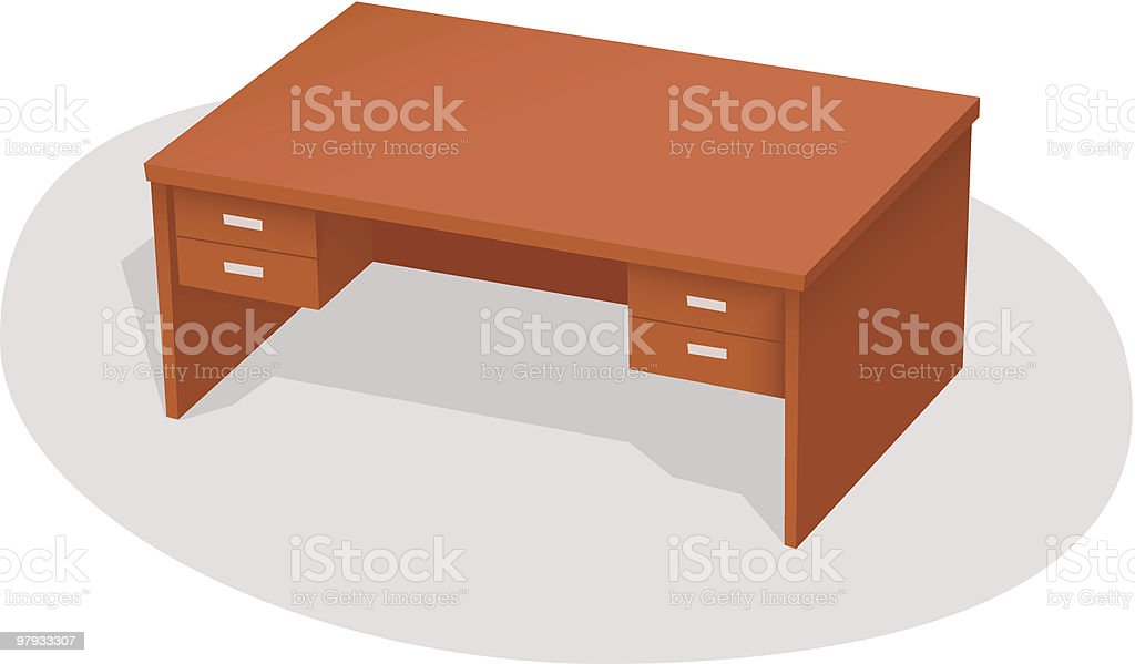 Old office table royalty-free stock vector art