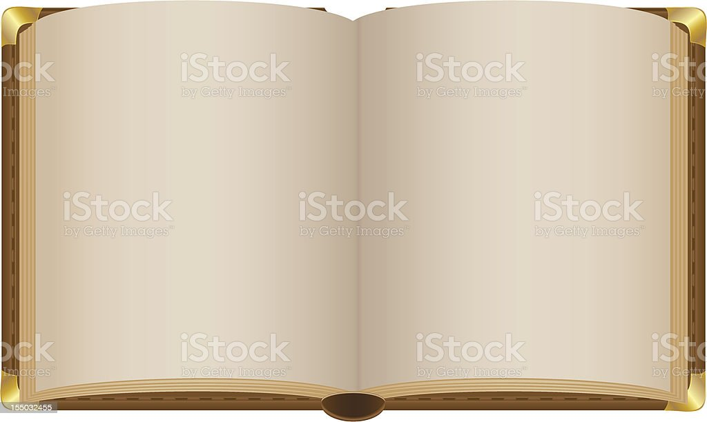 old open book with blank sheets vector illustration vector art illustration