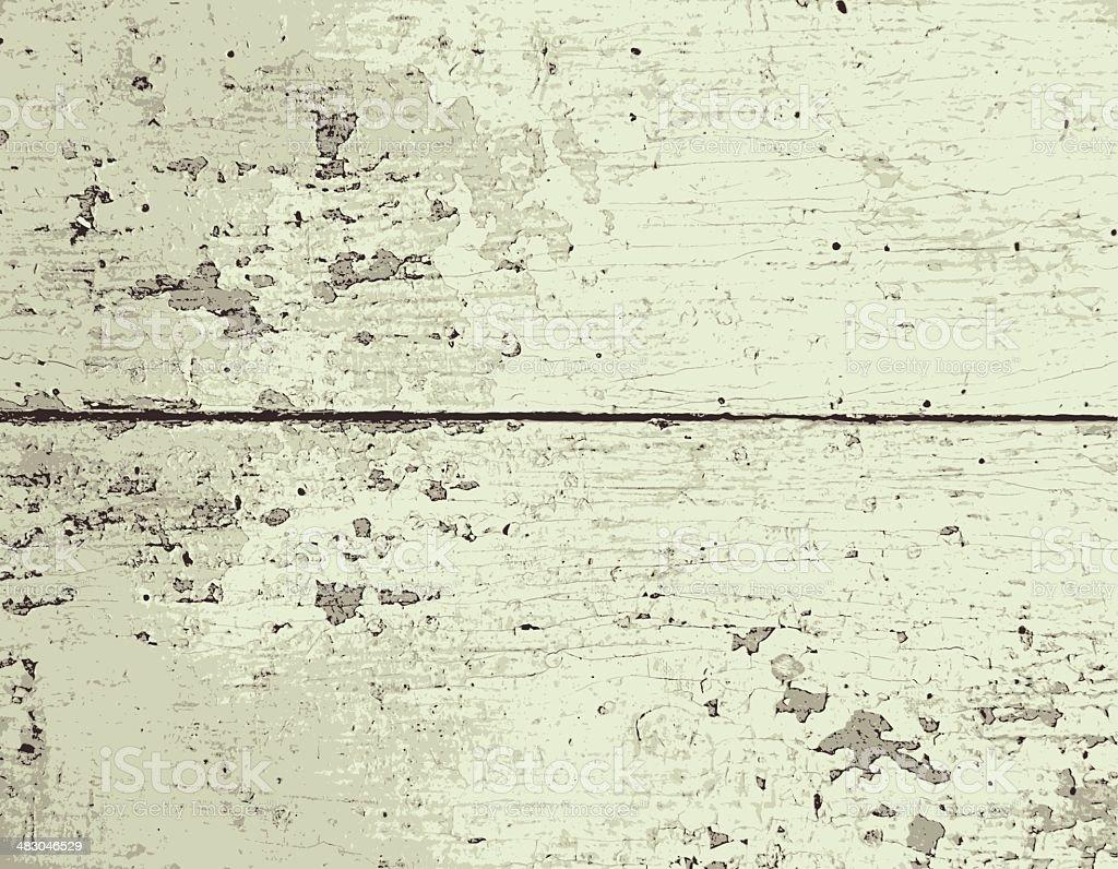 Old painted wood texture. vector art illustration