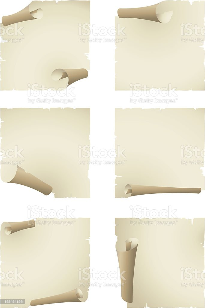 old paper banner royalty-free stock vector art