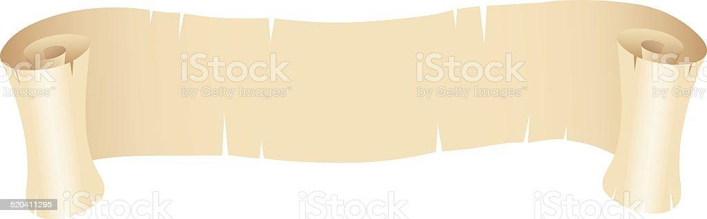 Vieux papier bannière stock vecteur libres de droits libre de droits