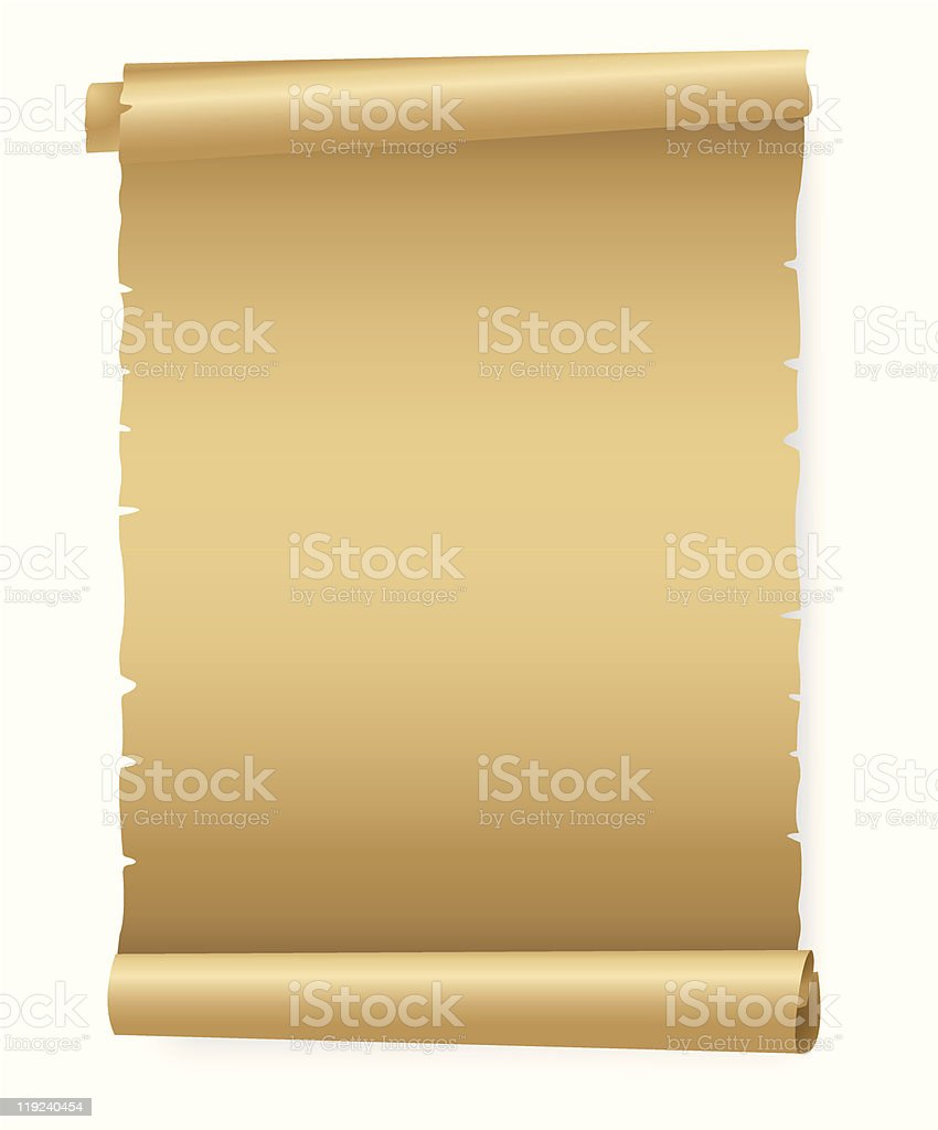 Old Paper Parchment Scroll royalty-free stock vector art