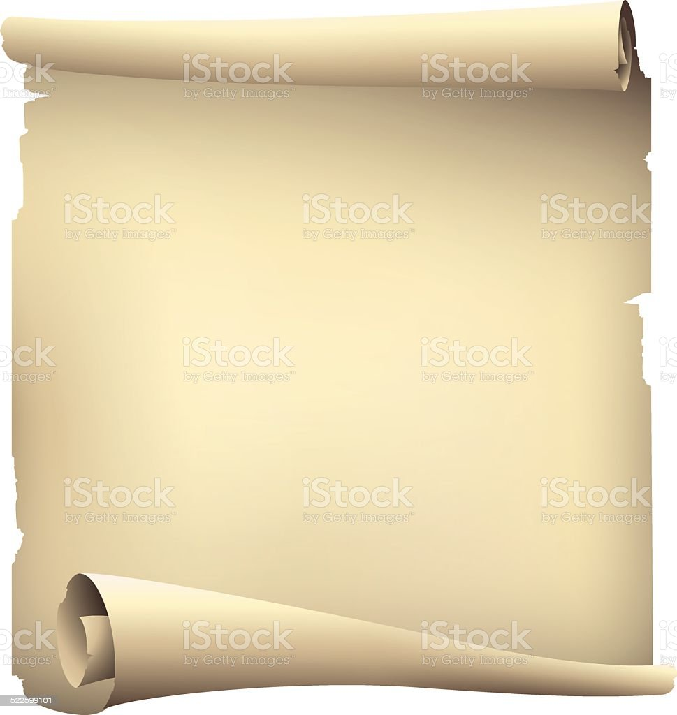 old paper scroll banner vector art illustration