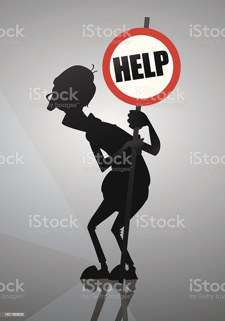 old people need help royalty-free stock vector art