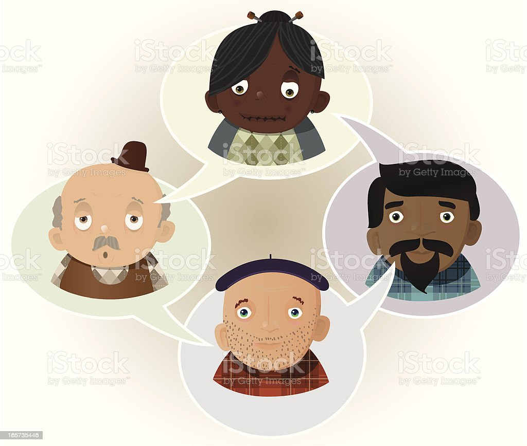 Old People royalty-free stock vector art