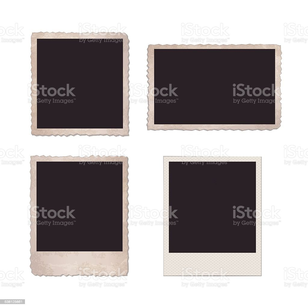 Old Photo Frames vector art illustration
