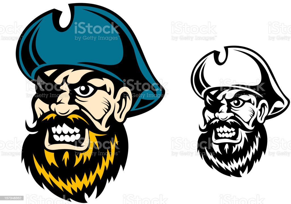 Old pirate captain royalty-free stock vector art