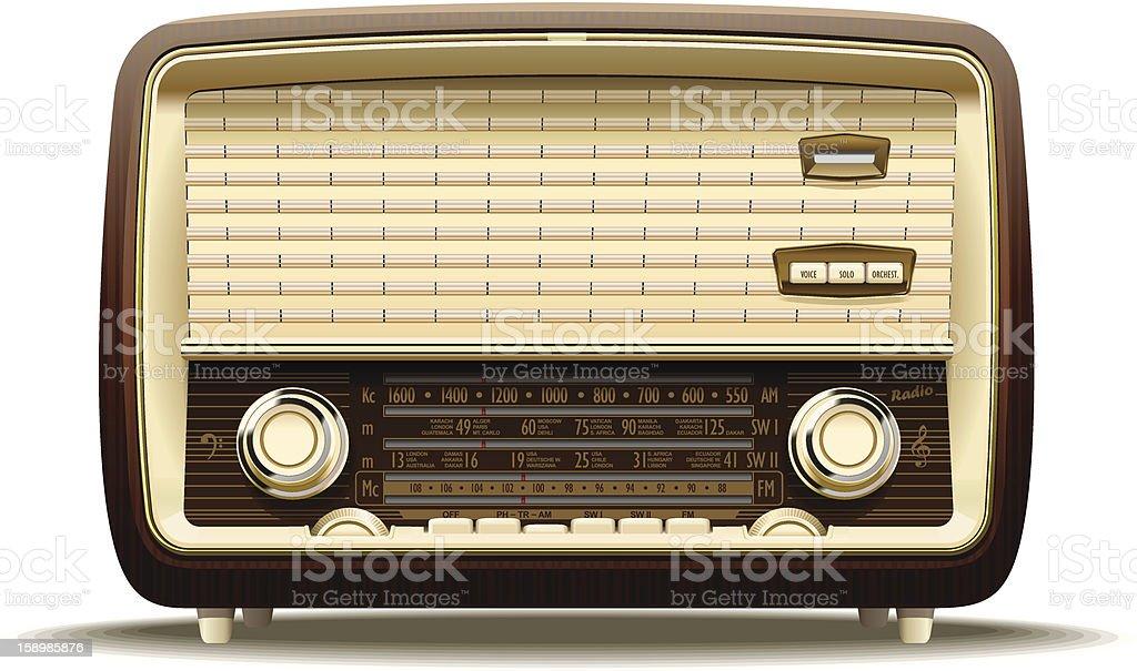 Old radio royalty-free stock vector art
