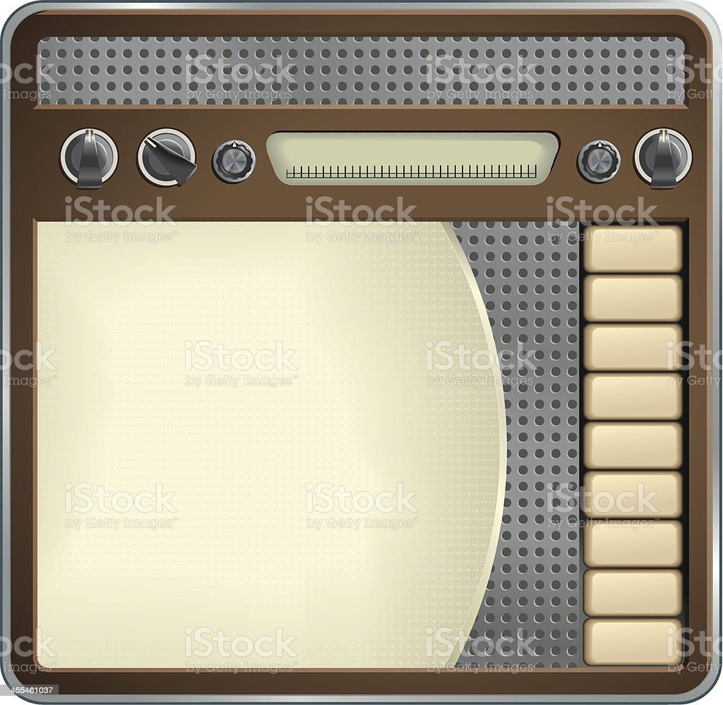 Old Radio royalty-free stock vector art