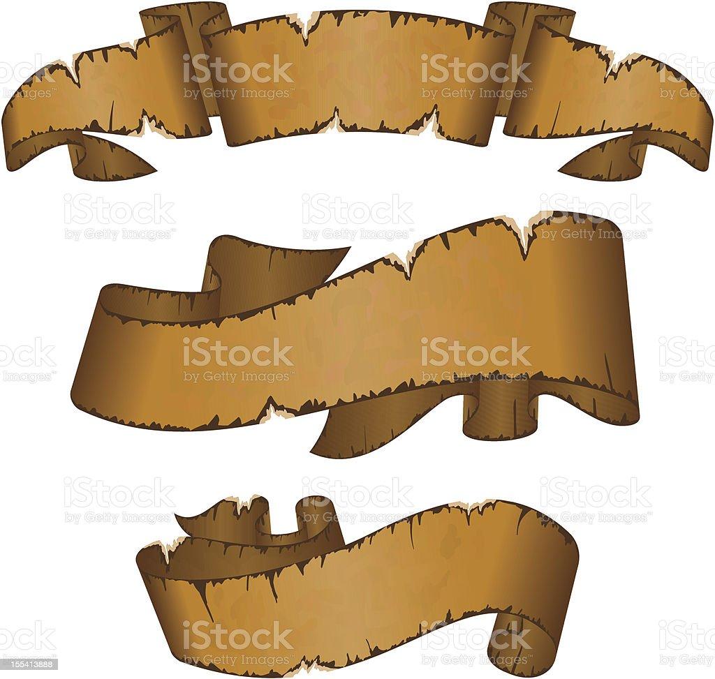 Old ribbons royalty-free stock vector art