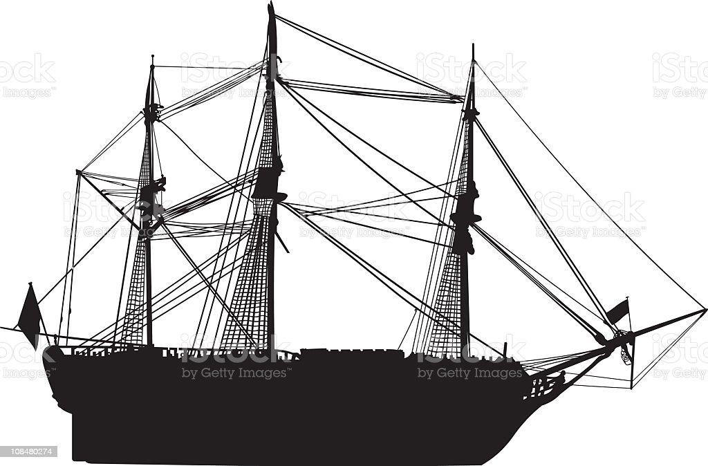 Old Sailing ship royalty-free stock vector art