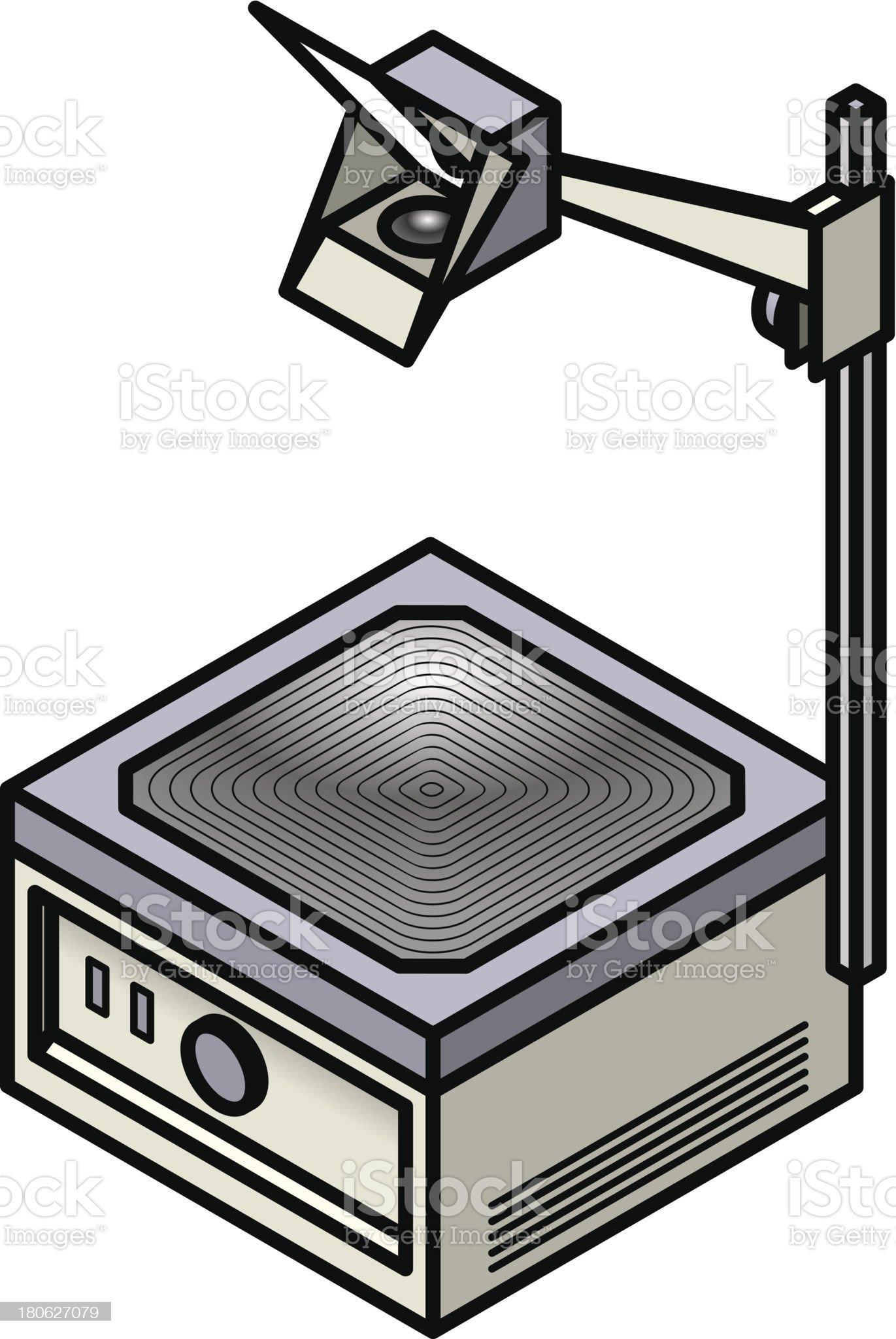 Old school projector royalty-free stock vector art