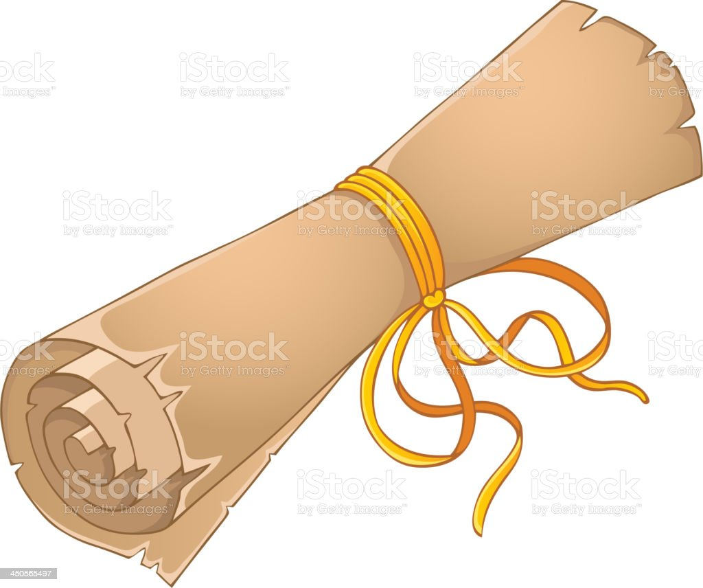 Old scroll theme image 4 royalty-free stock vector art