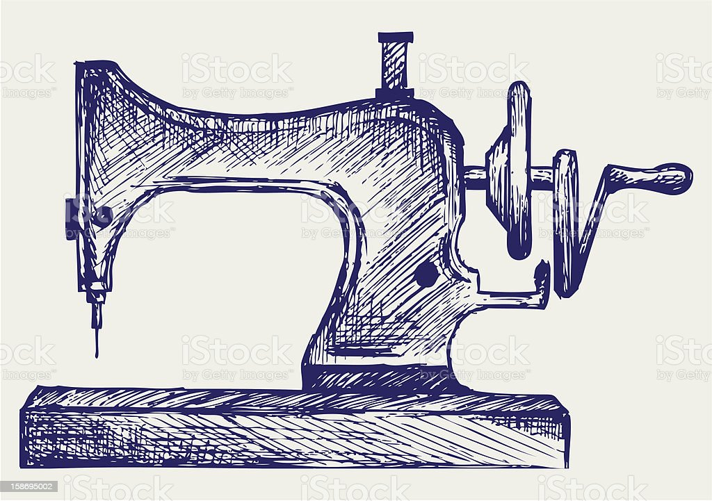 Old sewing machine royalty-free stock vector art