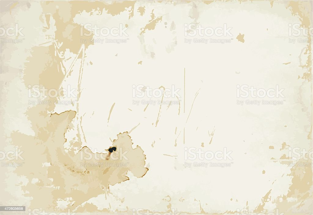 Old stained paper texture vector art illustration