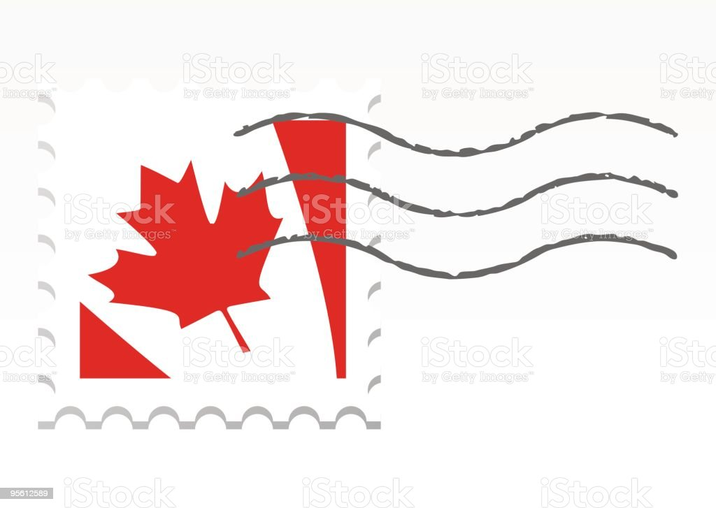 Old stamp Canada royalty-free stock vector art