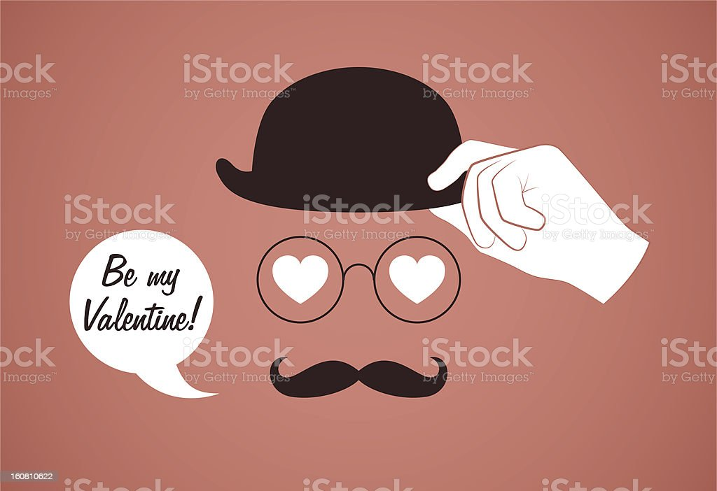 Old style valentine royalty-free stock vector art