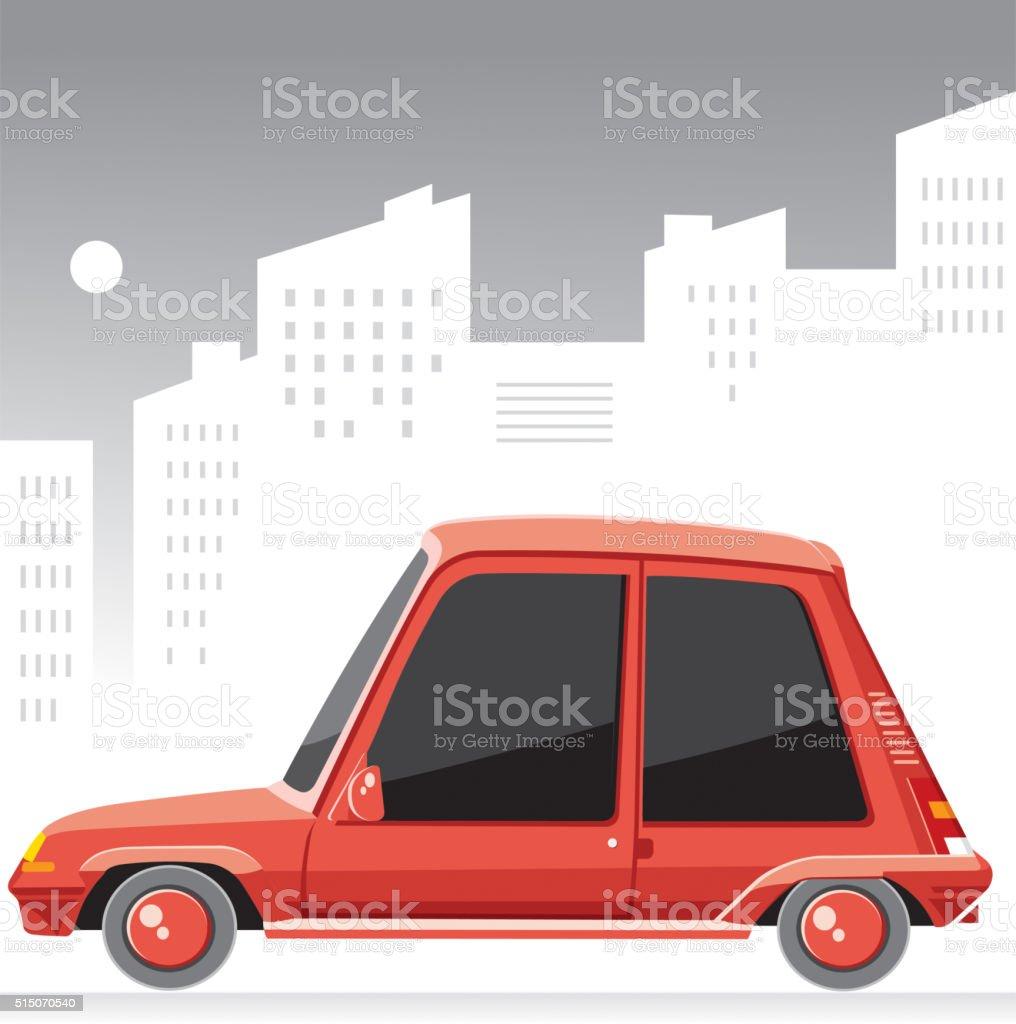 Old sweet car vector art illustration