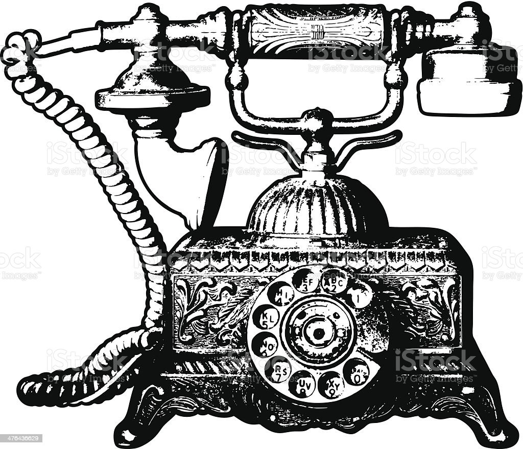 old telephone royalty-free stock vector art