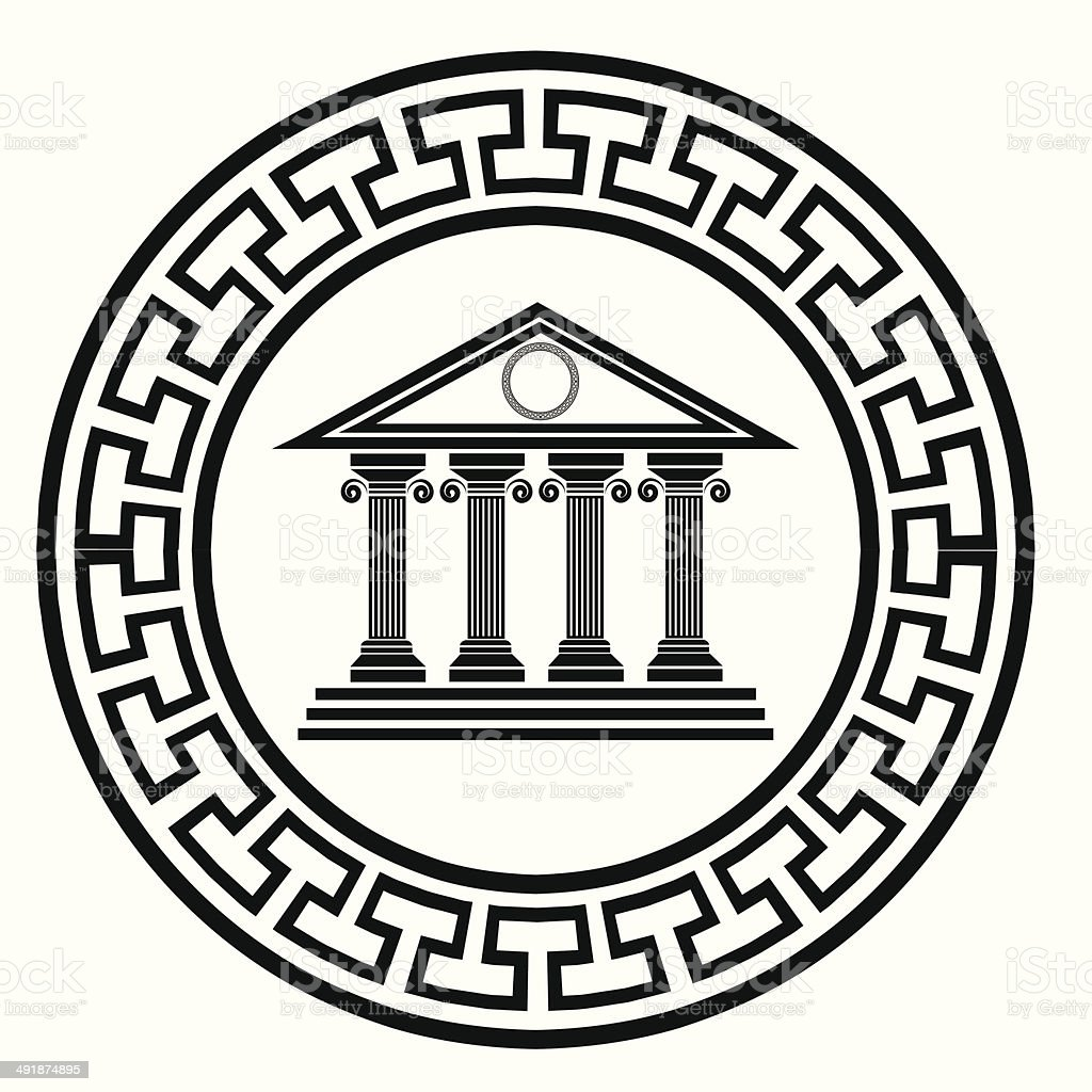 old temple vector art illustration
