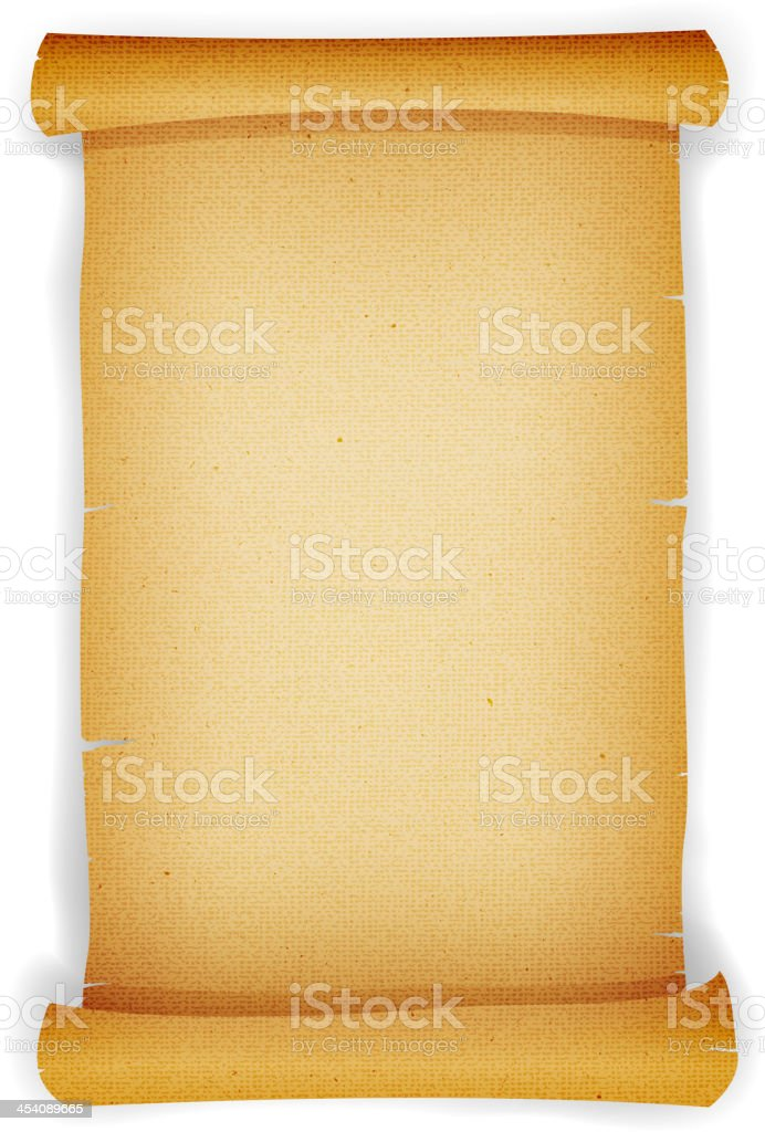 Old Textured Parchment Scroll vector art illustration
