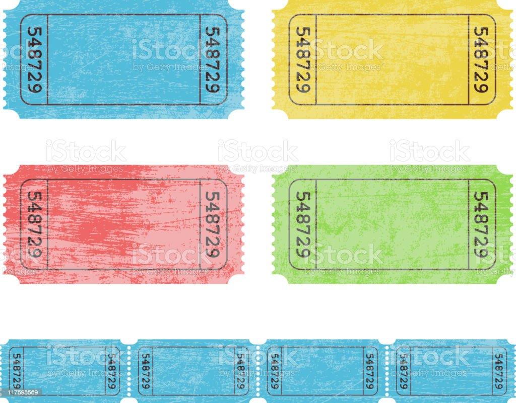 Old tickets vector art illustration