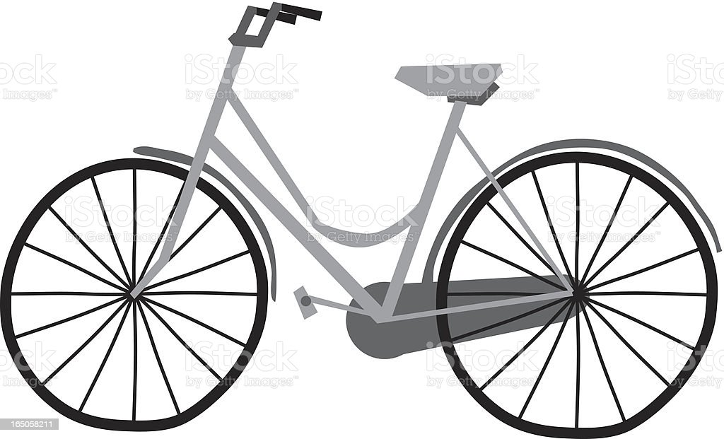 Old timey bike royalty-free stock vector art