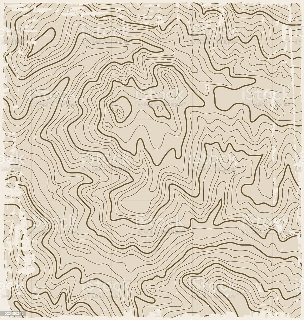 Old Topographic Map vector art illustration