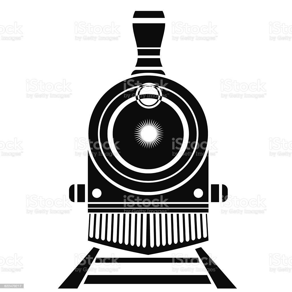 old train icon vector art illustration