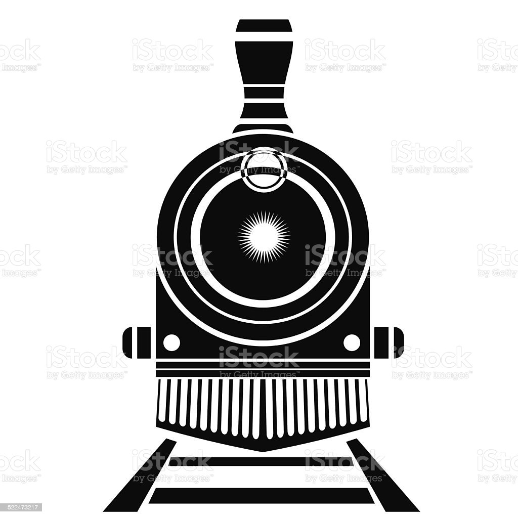 old train icon vector art illustration