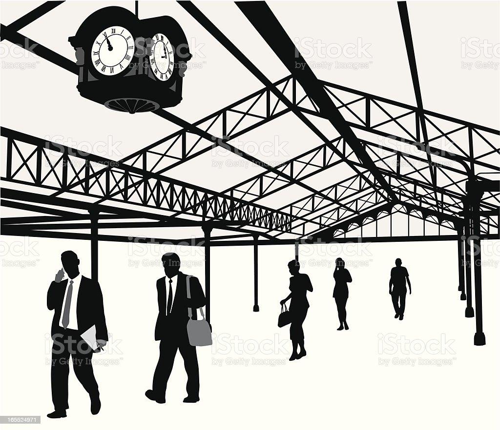 OldTrainStation vector art illustration